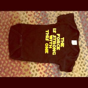 "Star Wars ""the force is strong"" 3-6 months onesie"
